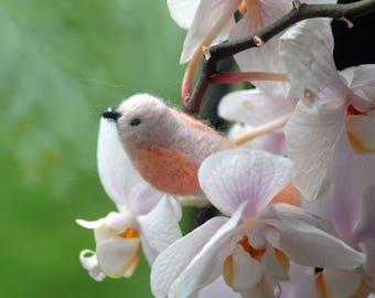 Needle-felted Merino Wool Bird