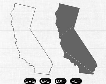 California SVG, State SVG Vector, CA Clipart, cricut, silhouette cut files commercial use