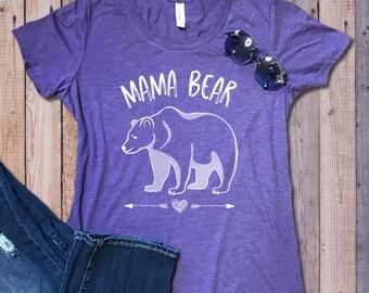 Mama Bear Tees Family Bear Tshirts | Momlife Mama Bear Tshirts | Mama Bear Shirts Family Bear Tees | Junior's Sizes S-2X