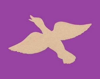 Support medium MDF duck in flight blank