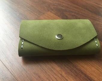 Leather Key Bag Green