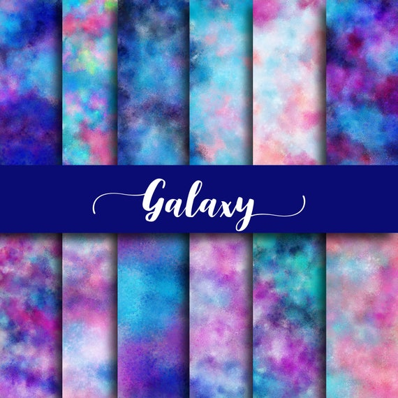 Galaxy Digital Paper Galaxy Backgrounds Watercolor Patterns
