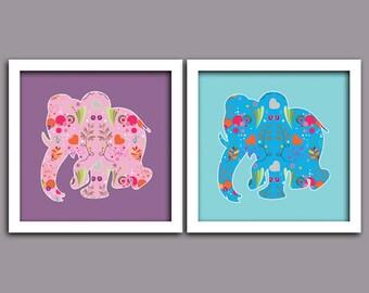Cadeau de naissance d coration chambre enfant et b b unique for Decoration murale elephant