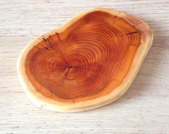Yew wood coasters
