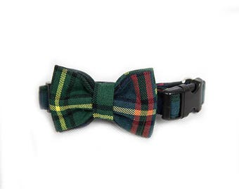 The Royal Tarten Dog  Collar, Bow & Lead