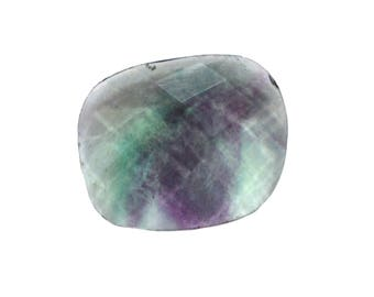 Fluorite Natural Striped Fluorite Both Side Faceted Checker cut Gemstone 10.25 cts 15x18.5 mm For Designer Jewelry 3981