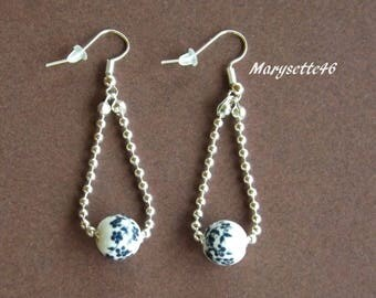 With their ceramic bead earrings