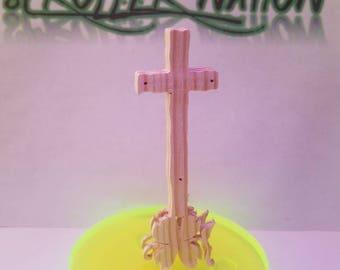 An easter cross statue