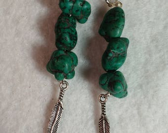 Chinese Turquoise Earrings - Turquoise Earrings