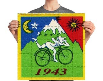 1943 Bicycle day LSD Albert Hofman Poster
