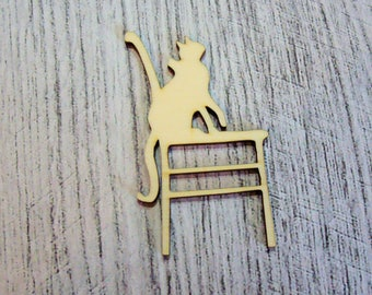 Cat on Chair wooden Littles 1101