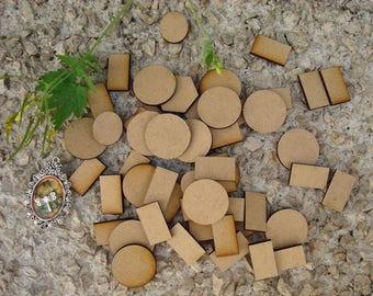 Shaped mdf wooden Littles 2027 embellishment