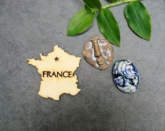Map of France 217 embellishment wooden creations