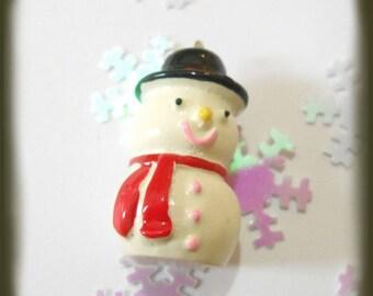 Snowman snow pendant resin size 3