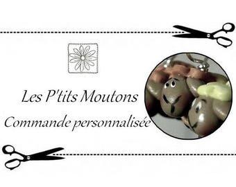 Anneaux marqueurs Les P'tits Moutons - Commande personnalisée