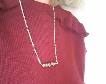 Bridesmaid Necklace - Bridesmaid Gift - Bridesmaid Jewellery - Pyrite Bar Necklace - Raw Pyrite Necklace - Pyrite Bib Necklace