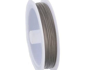 1 x spool 70 m silver 0.45 mm diameter stainless steel wire