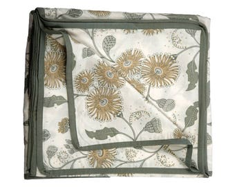 Summer Quilt,Lounge Throw,Throws,Bedspreads,Double Bed,Australian Floral Design,Queen Quilt,Bed Cover,Blanket,Grey and Beige,Bedding Gift