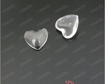 10 gems 12 MM H23540 SMD heart shaped glass