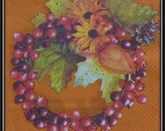 "napkin ""fall berries Crown"""