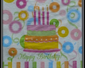 """birthday cake"" paper towel"