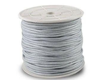 Light grey waxed cotton thread