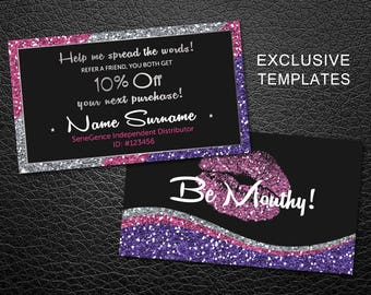 LipSense Business Cards - SeneGence International - LipSense - Distributor - Lipsense
