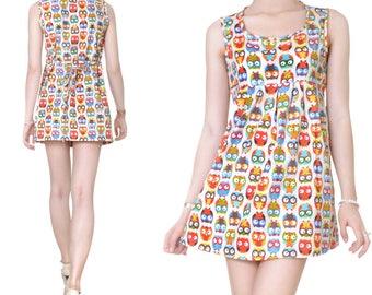 Short dress Babydoll cotton print (M43)