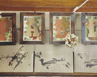Rustic shadow boxes