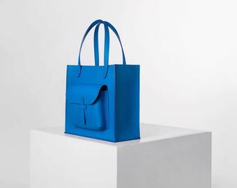 Leather bag,Womens bag,Blue Bag,Leather blue bag,Shopping bag,Tote bag,Handmade bag,Shoulder Bag Leather,Handbag,Shopper,Everyday Bag