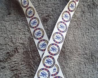 42 - Ribbon - grosgrain - 22 mm sold by 50 CM - Soccer ribbon soccer