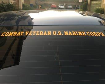 Combat Veteran Marine decal