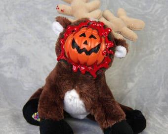 Pumpkin Face Reindeer
