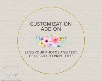 Customization Add On   Edit My Template For Me   1-2 Business Days