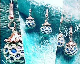 Earrings / jewelry / crochet