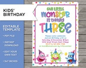 3rd Birthday Invite, DIY ...