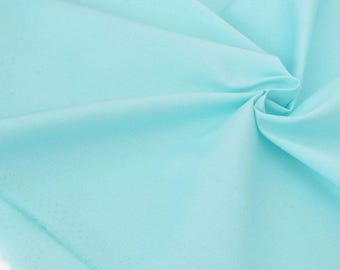 X 50cm ice green cotton Poplin fabric