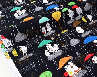 US fabric patchwork-Singing in the rain sing in the rain - cute sheep x 50cm