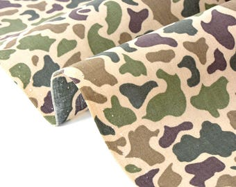 Fabric Japanese cotton camouflage x50cm
