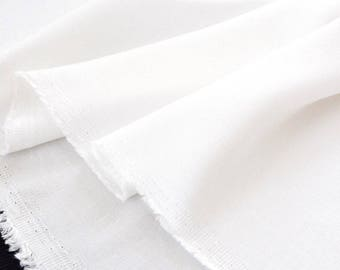 Fabric viscose cotton silky smooth cream white x 50cm