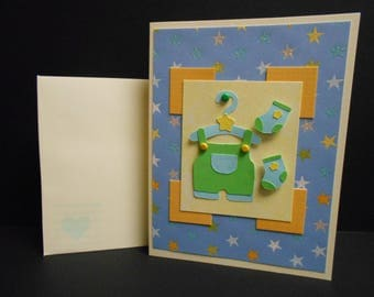 Baby Boy Outfit Card