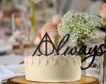 Always Script Cake Topper