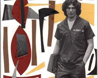RICHARD RAMIREZ abstract handmade art collage cut out cut and paste print