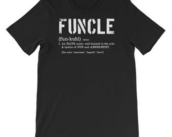 Funcle Definition for Military Vets Short Sleeve T-Shirt