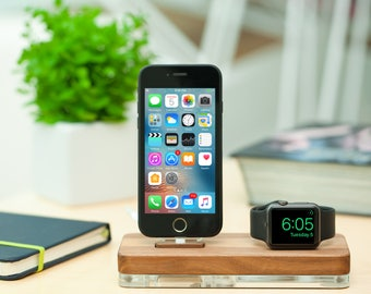 Gift ideas for men Best iPhone and Apple Watch Dock station Birthday gift Gifts for Boyfriend Gift for Husband Anniversary gift