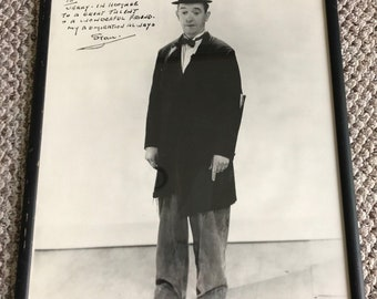RARE Personalized & Signed Photo From Stan Laurel to Jerry Lewis