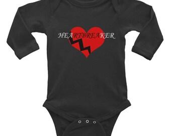 Infant Long Sleeve Heartbreaker Onesie