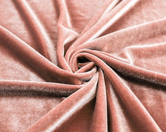 grace dusty rose stretch velvet fabric by the yard half yard bolt and wholesale