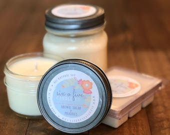 Brown Sugar & Pralines Hand-poured Soy Candle Wax Melts, mason jar candle, bakery scent candle, gifts for her, gifts under 25, housewarming
