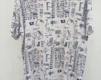 Vintage Jean MICHEL BASQUIAT Shirt Jmb Basquiat Study Of Jaw Teeth Samo Pop Art Artwork Andy Warhol
